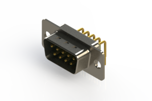 621-M09-260-GN1 - Right Angle D-Sub Connector