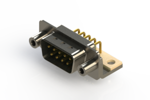621-M09-260-GT6 - Right Angle D-Sub Connector
