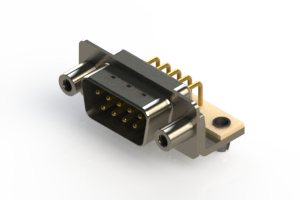621-M09-260-WT5 - Right Angle D-Sub Connector