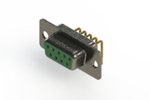 622-M09-260-GN1 - EDAC | Right Angle D-Sub Connector
