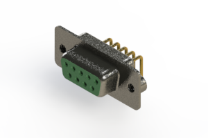 622-M09-260-GN2 - EDAC | Right Angle D-Sub Connector
