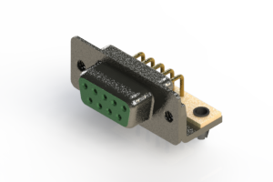 622-M09-260-GN3 - EDAC | Right Angle D-Sub Connector
