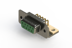 622-M09-260-GN4 - EDAC | Right Angle D-Sub Connector