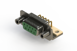 622-M09-260-GN6 - EDAC | Right Angle D-Sub Connector