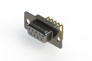 622-M09-260-WT1 - EDAC | Right Angle D-Sub Connector