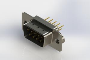 627-M09-220-BN2 - Vertical D-Sub Connector