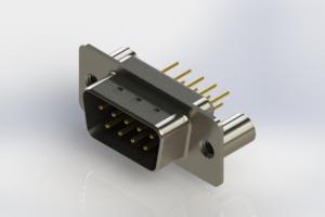 627-M09-220-BN3 - Vertical D-Sub Connector