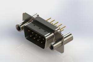 627-M09-220-BN4 - Vertical D-Sub Connector