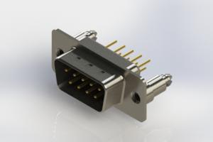 627-M09-220-BN5 - Vertical D-Sub Connector