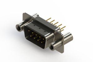 627-M09-220-BT4 - Vertical D-Sub Connector