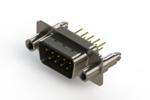 627-M09-220-BT6 - Vertical D-Sub Connector