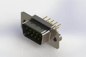 627-M09-220-GN2 - Vertical D-Sub Connector