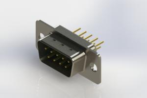 627-M09-220-GT1 - Vertical D-Sub Connector