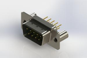 627-M09-220-GT3 - Vertical D-Sub Connector