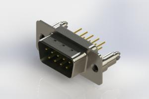 627-M09-220-GT5 - Vertical D-Sub Connector