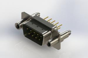 627-M09-220-GT6 - Vertical D-Sub Connector