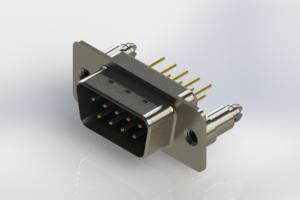 627-M09-220-LN5 - Vertical D-Sub Connector