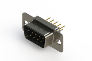 627-M09-220-LT1 - Vertical D-Sub Connector
