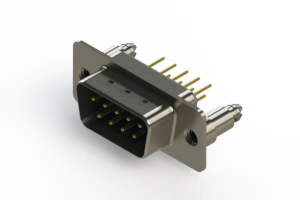 627-M09-220-LT5 - Vertical D-Sub Connector
