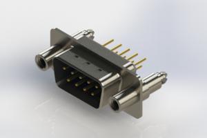 627-M09-220-LT6 - Vertical D-Sub Connector
