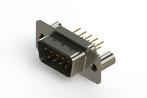 627-M09-220-WN3 - Vertical D-Sub Connector