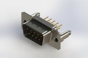 627-M09-220-WN5 - Vertical D-Sub Connector