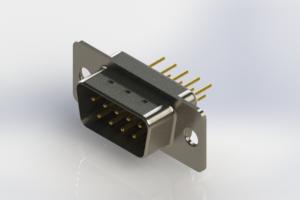 627-M09-220-WT1 - Vertical D-Sub Connector