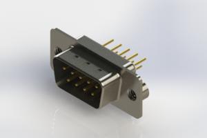 627-M09-220-WT2 - Vertical D-Sub Connector