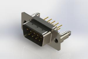 627-M09-220-WT5 - Vertical D-Sub Connector