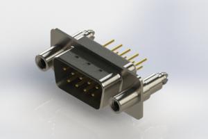 627-M09-220-WT6 - Vertical D-Sub Connector