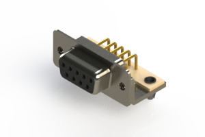 630-M09-240-BN3 - Right Angle D-Sub Connector