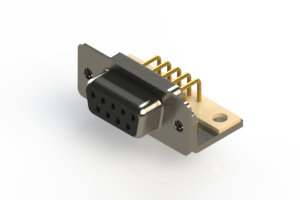 630-M09-240-BN4 - Right Angle D-Sub Connector