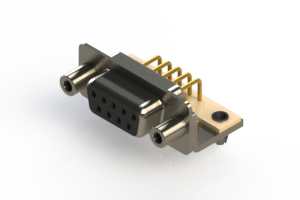 630-M09-240-BN5 - Right Angle D-Sub Connector