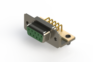 630-M09-240-GN3 - Right Angle D-Sub Connector