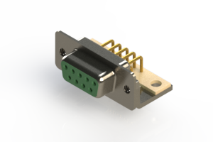 630-M09-240-GN4 - Right Angle D-Sub Connector