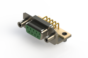 630-M09-240-GN5 - Right Angle D-Sub Connector