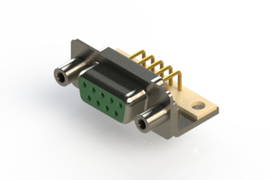 630-M09-240-GN6 - Right Angle D-Sub Connector