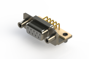 630-M09-240-WT5 - Right Angle D-Sub Connector