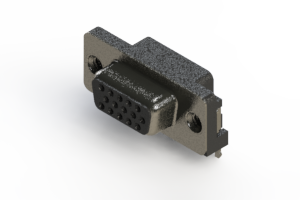 632-015-266-502 - 640 Series right angle D-Sub Connector