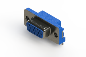 632-015-274-031 - 667 Series right angle D-Sub Connector