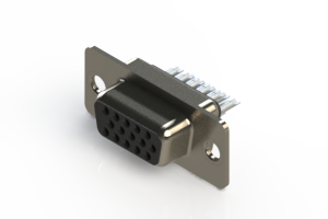 638-015-332-041 - Vertical D-Sub Connector